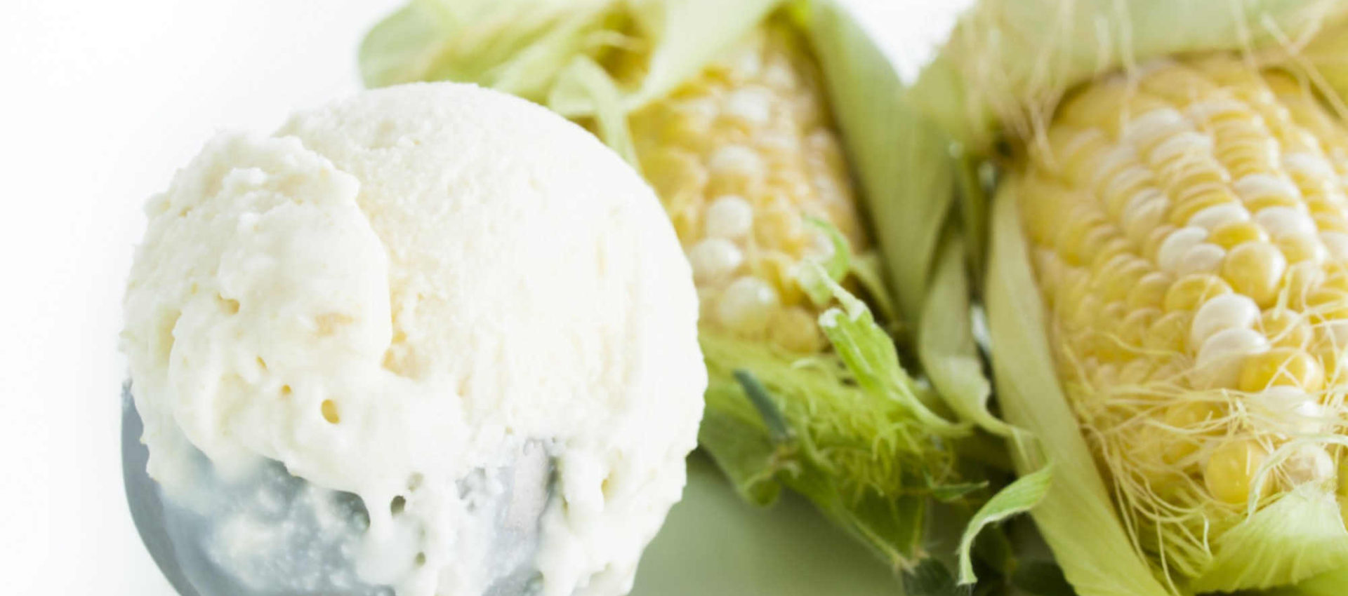 Sorvete vegano de milho